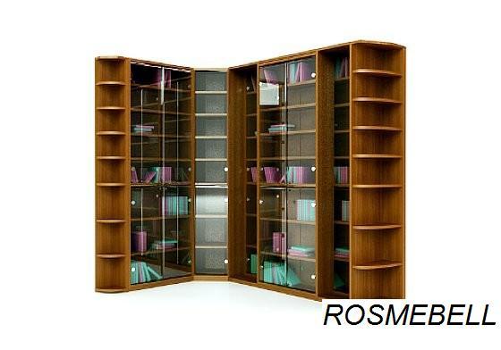 Комплект -13. угловой шкаф для книг с раздвижными шкафами-ro.