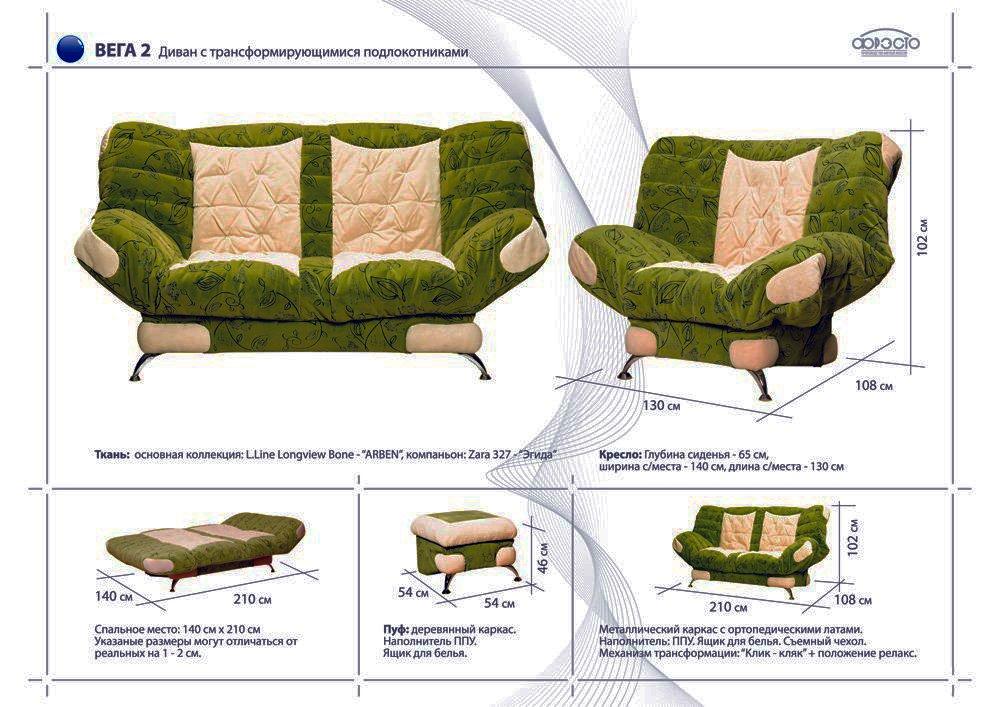 Устройство дивана клик кляк